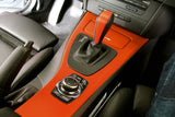 XPO Orange Dry Carbon Vinyl Wrap car interior | Vvivid Canada