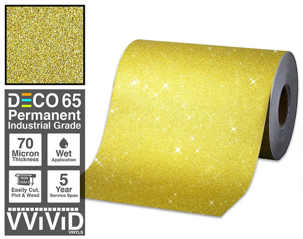 Deco65 Gold Glitter Craft Vinyl