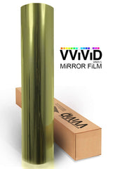 Gold One-Way Mirror Finish Window Privacy Vinyl roll
