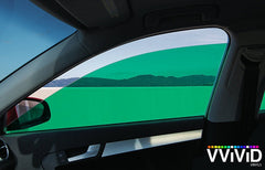 VViViD Green Transparent Window Tint side display