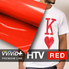 VViViD+ Red Premium Line Heat Transfer Vinyl 12