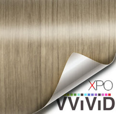XPO Light Teak Wood Grain Vinyl Wrap | Vvivid Canada