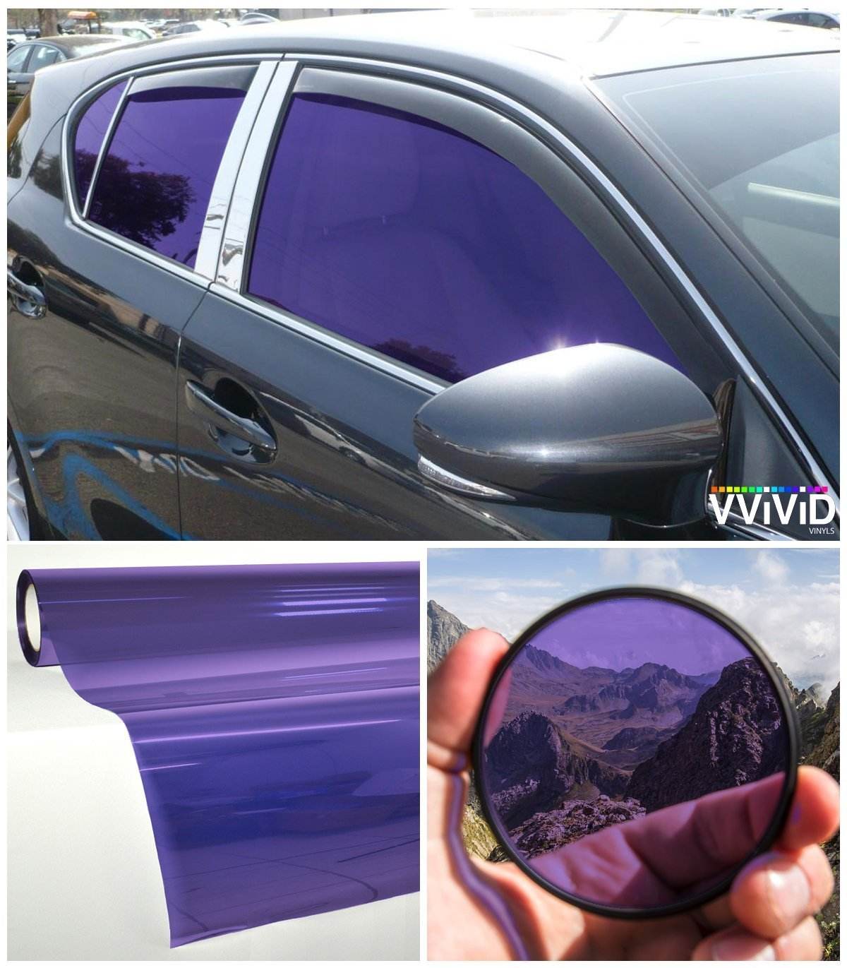 VViViD Purple Transparent Window Tint display