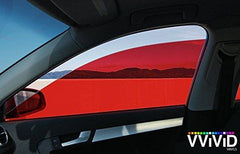 VViViD Red Transparent Window Tint side display