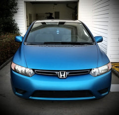 VViViD+ Matte Metallic Blue (Ghost) Vinyl Wrap honda civic front