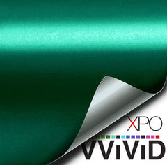 XPO Satin Chrome Emerald Dark Green Vinyl Wrap | Vvivid Canada