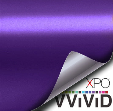 XPO Satin Chrome Purple Vinyl Wrap | Vvivid Canada