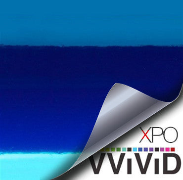 XPO SP Conform Chrome Blue Vinyl Wrap | Vvivid Canada