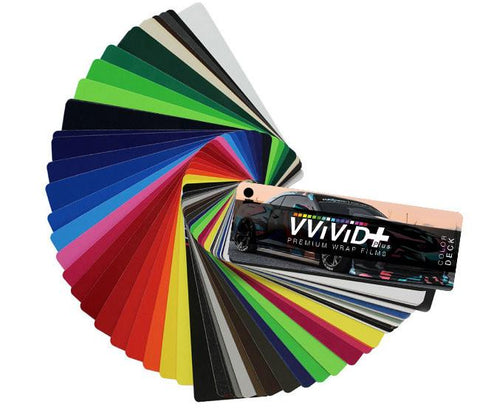 2017 VVIVID+ Sample Vinyl Wrap Color Deck | Vvivid USA