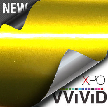 XPO Liquid Metal Yellow Vinyl Wrap | Vvivid Canada