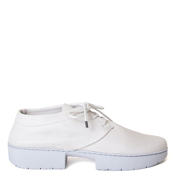 Trippen Relax. Women's laced platform shoes in off-white Perla leather. 1