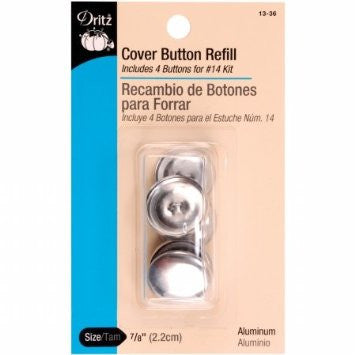Button Cover Refills - 7/8in