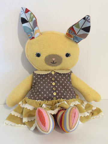 Yellow Rabbit by Crafted Life