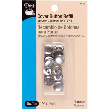 Button Cover Refills - 1/2in