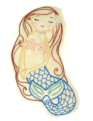 Ocean Pearl Mermaid Embroidery Pattern