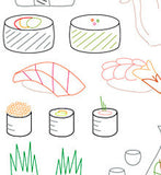 Sublime Stitching Embroidery Transfer - Sushi Bar Pattern