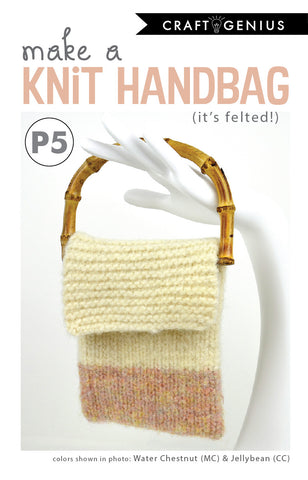 Felted Knit Handbag - Knitting Pattern