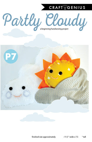 Partly Cloudy Handsewing Pattern