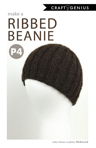 Ribbed Beanie - Knitting Pattern