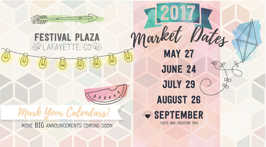Handmade craft markets in Festival Plaza in Lafayette Colorado
