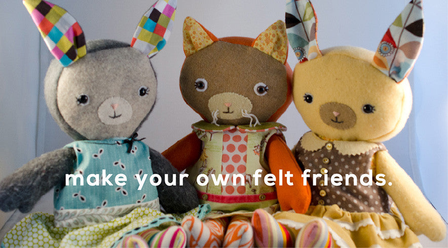 Make your own felt friends!