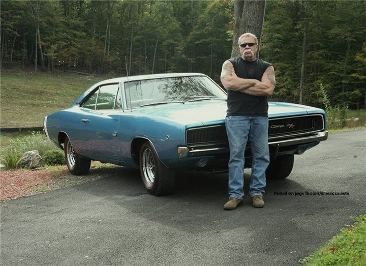 Paul Teutul Sr. with 1968 Dodge Hemi Charger