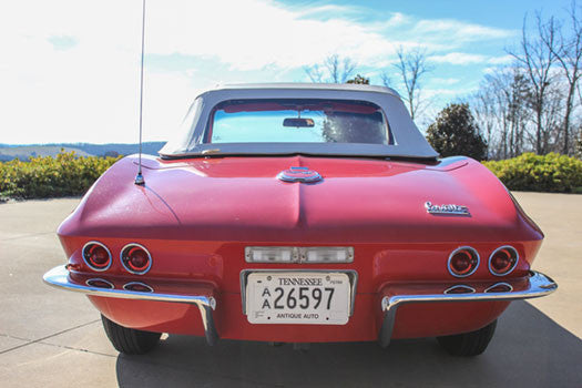 1967 Chevy Corvette Stingray Convertible back end