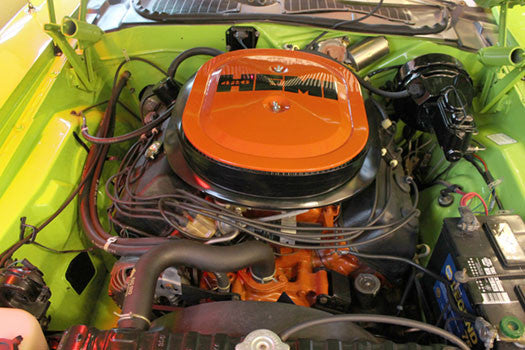 Close-up Dodge Challenger Engine