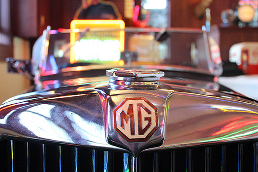1953 MG Roadster badge