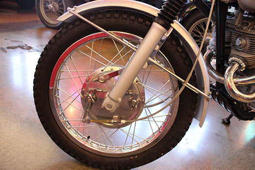 1966 Honda 300 Dream front tire and fork
