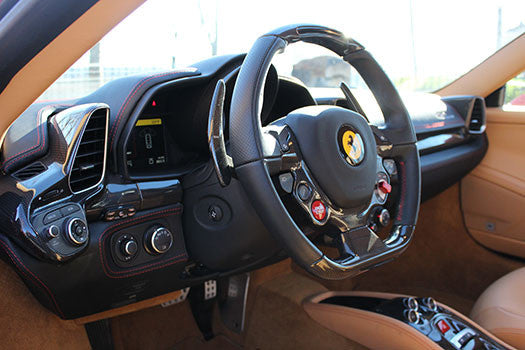 Ferrari 458 Spider dashboard