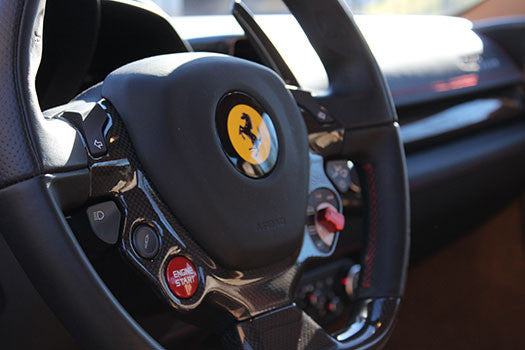 Ferrari 458 Spider steering wheel