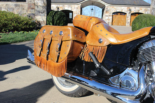 2014 Indian Motorcycle leather saddle bags