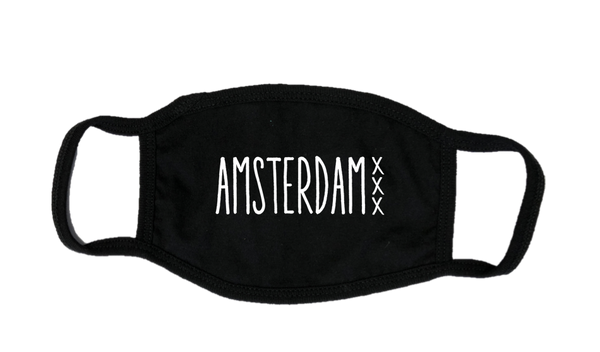 Mondkapje Face mask Amsterdam XXX met filter FASHION JUNKY.