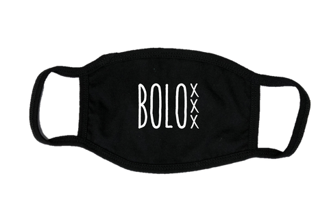 Mondkapje Face mask BOLO met filter FASHION JUNKY big logo.