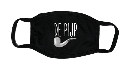 Mondkapje Face mask De Pijp met filter FASHION JUNKY big logo.