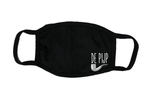 Mondkapje Face mask De Pijp met filter FASHION JUNKY small logo.