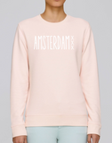 women Amsterdam XXX Sweater Pink Fashion Junky Amsterdam Rose Trui Unisex