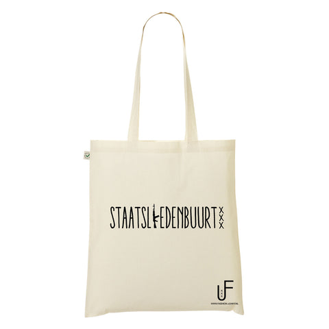 Staatsliedenbuurt Organic Shopping bag Fashion Junky Amsterdam