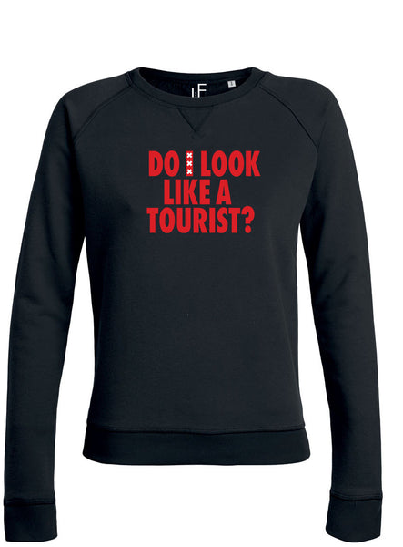 Do I look like a tourist Amsterdam Sweater Amsterdam Rood Trui Woman