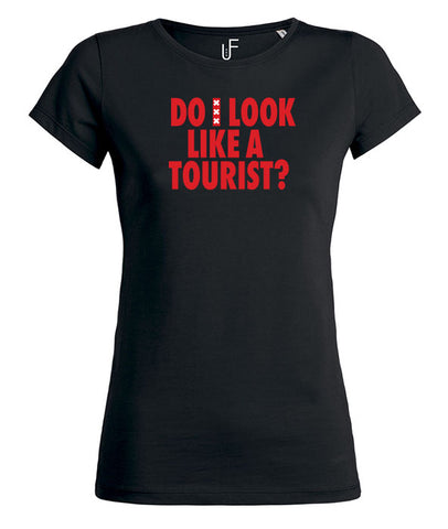 Do i look like a tourist?  Amsterdam Rood Women's T-shirt
