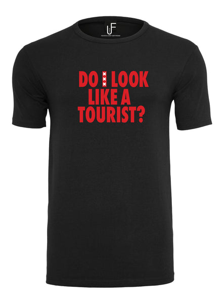 Do i look like a tourist T-shirt Amsterdam Rood Men