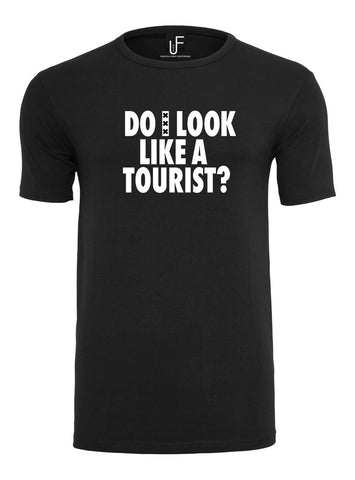 Do i look like a tourist T-shirt Fashion Junky Amsterdam Wit tshirt Men