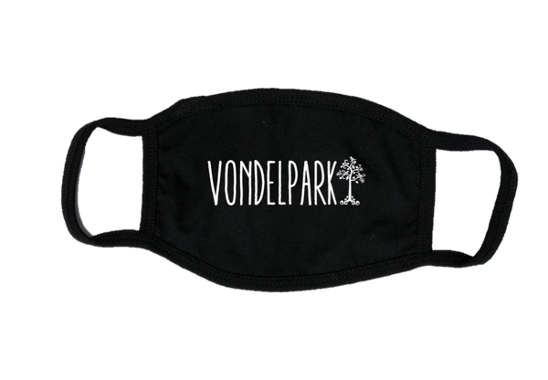 Mondkapje Face mask Vondelpark met filter FASHION JUNKY big logo.