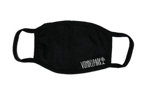Mondkapje Face mask Vondelpark met filter FASHION JUNKY small logo.