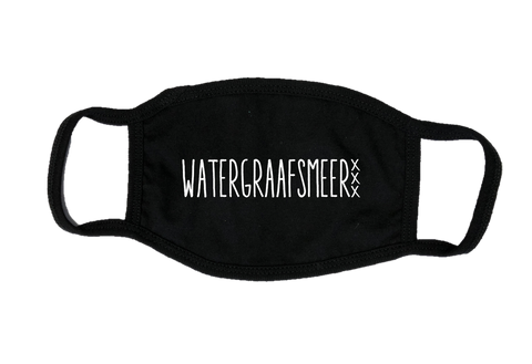 Mondkapje Face mask Watergraafsmeer met filter FASHION JUNKY big logo.