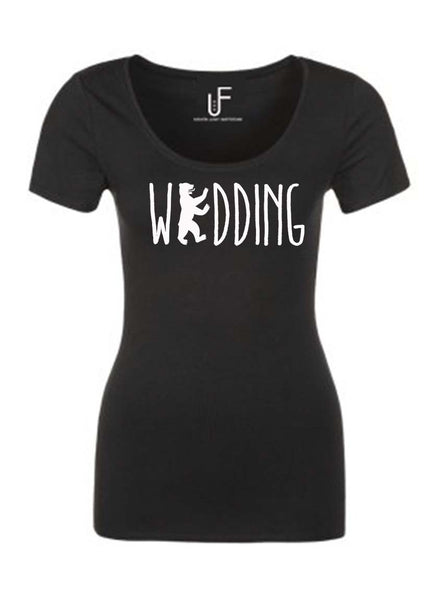 Wedding T-shirt Fashion Junky Berlin tshirt Woman