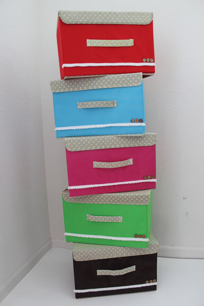 "12-2-2 Foldable storage with lid 15"" W x 10"" D x 10"" H"
