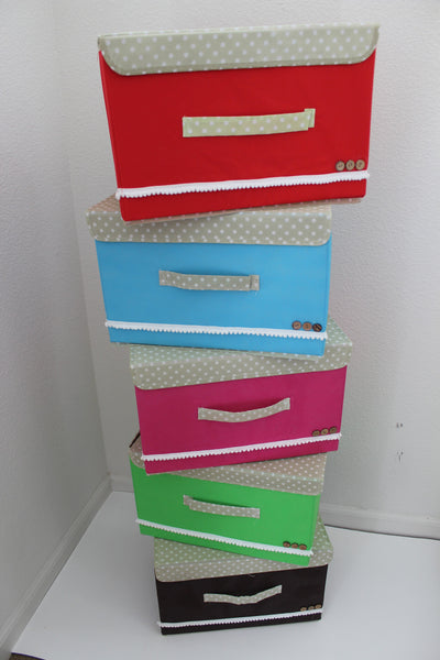 "12-2-4 Foldable storage with lid 15"" W x 10"" D x 10"" H"