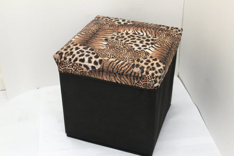 "12-3-1 foldable storage ottoman with lid 12"" W x 12"" D x 12"" H"
